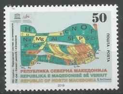 MK 2019-17 150 Yr Mendelian Periodic Table, NORTH MACEDONIA, 1 X 1v, MNH - Macedonia