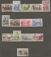 RUSSIE -  Yv N° 476 à  489  Complet (o) 1k  à 35k Série Ethnograĥique  Cote  20,4  Euro  BE  R 2 Scans - 1923-1991 USSR