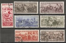 RUSSIE -  Yv N° 490 à 496  Complet (o) 15k Série Ethnograĥique  Cote  7,6  Euro  BE   2 Scans - 1923-1991 USSR