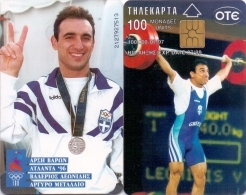 GREECE PHONECARD OLYMPIC WINNER ATLANTA 96 LEONIDIS  -X0353- 100000pcs-7/97-USED - Olympic Games