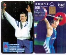 GREECE PHONECARD OLYMPIC WINNER ATLANTA 96 KOKAS  -X0352- 100000pcs-7/97-USED - Olympische Spiele