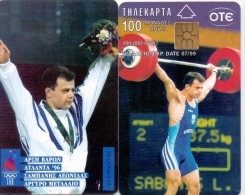 GREECE PHONECARD OLYMPIC WINNER ATLANTA 96 SABANIS  -X0349- 100000pcs-7/97-USED - Olympische Spiele
