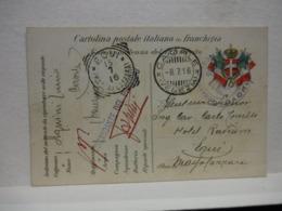POSTA  MILITARE  I  GUERRA   --    P.M. --- CAORLE  --VENEZIA  - COMANDO DEL PRESIDIO --8-7-16 - Guerra 1914-18