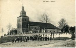 CPA 88 Vosges Belmont Sur Buttant Eglise Communiants Filles Garçons - Sonstige Gemeinden
