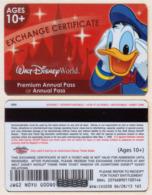 Gift Card - Geschenkkarte - USA - Walt Disney World + Disneyland 8 Diff.  Xy052 - Gift Cards