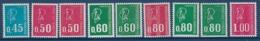 """FR YT 1663 ... 1893 """" Tous Les Béquet Ss Roulette """" Neuf** - 1971-76 Marianne (Béquet)"""
