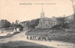 FONTAINE LE SEC (80) - Place De L'Eglise - Sortie Des Elèves - Autres Communes