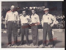 Jeu De Boule Championnat De France Bouliste Toulouse 1958 Photo Lamazère Toulouse - Sports
