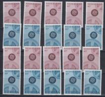 Europa Cept 1967 Netherlands (phosphor) 2v (10x) ** Mnh (45165) - Europa-CEPT