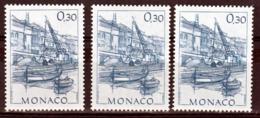Monaco 1407 Variété Papier Teinté Gomme Jaune Mate, Papier Blanc Gomme Jaune Brillante Et Normal Neuf ** TB  MNH - Variedades Y Curiosidades