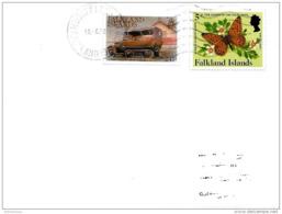 """212 - 52 -  Enveloppe Falkland Islands Avec  1 Timbre """"ipapillon"""" 1988 - Falkland Islands"""