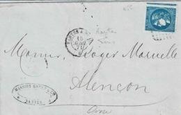 TP 46 Sur Lettre De Nantes (cachet Ferroviaire) Pour Alençon - Marcophilie (Lettres)