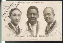 CPA Paris - Trio Haïtien Au Pavillon De Haïti - Salvane Germain Thibault - Exposition De Paris 1937 - Exposiciones