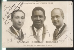 CPA Paris - Trio Haïtien Au Pavillon De Haïti - Salvane Germain Thibault - Exposition De Paris 1937 - Tentoonstellingen
