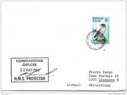 212 - 53 - Enveloppe Navire HMS Protector 1984 Falkland Islands - Falkland Islands