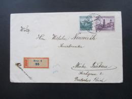 CSSR 14.12.1938 Einschreiben Recommando Brno 4 - Mährisch Trübau Mit Ak Stempel - Tschechoslowakei/CSSR