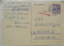 Bizone, Gebühr Bezahlt Ganzsache Rodach 1946 (8405) - Bizone