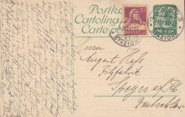 Switzerland Uprated Postal Stationery Ganzsache Entier LUGANO STAZIONE 1924 SPEYER A. Rh. Germany - Entiers Postaux