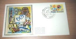 FDC Soie / Zijde 1944(o) - Philatélie De La Jeunesse - Tintin Et Milou - Kuifje & Bobby (oblitération Jodoigne) - FDC