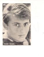 M9068 CANTANTI TONY RENIS AUTOGRAFO ORIGINALE SANREMO 1964 - Musica E Musicisti