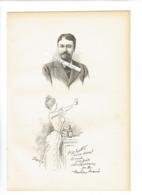 MARS MAURICE BONVOISIN 1849 VERVIERS 1912 MONTE CARLO DESSINATEUR BELGIQUE PORTRAIT AUTOGRAPHE BIOGRAPHIE ALBUM MARIANI - Historische Dokumente