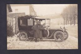 Carte Photo Guerre 14-18 Leon Micop 7è Section Parc Automobile Reserve Cpt Marigny Dijon (origines Etain Chalons...) - Guerre 1914-18