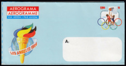 Cuba 1983 / Olympic Games Los Angeles 1984 / Aerogramme / Basketball, Torch / Postal Stationery - Sommer 1984: Los Angeles