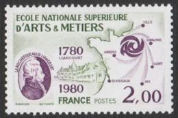 France Neuf Sans Charnière 1980 Art Ecole Nationale Supérieure Des Arts Et Métiers    YT 2087 - Francia