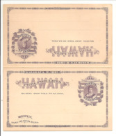 PC Kalakaua 1881 1ct + 1ct Replycard - Hawaii
