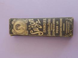 Boite Carton Ancienne LA SUZON Avec épingles A Cheveux - Boîtes