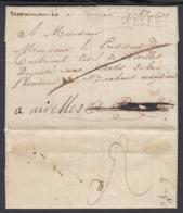 """BELGIQUE LETTRE DE NIVELLES  GRIFFE """"NIVELLES""""  VERS BRUXELLES ET RETOUR NIVELLES (DD) DC-4456 - 1815-1830 (Dutch Period)"""