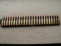 Bande 24 Cartouches Mitrailleuse Hotchkiss Ww2 Neutralisée - Decorative Weapons