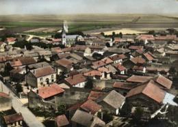 CPSM  Grand Format En AVION AU DESSUS DE ... WITRY Les REIMS (Marne) Vue Générale Colorisée Recto Verso - Autres Communes