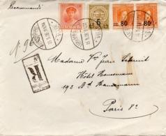 Lettre Recommandée De Luxembourg Vers Paris (1926) - Luxemburg