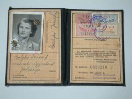 Hungarian Railway - 1964 Railway Identity Card Bjné Db02 - Toegangskaarten