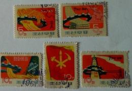 1961 KOREJA NORTH 5used Stamps - Korea, North