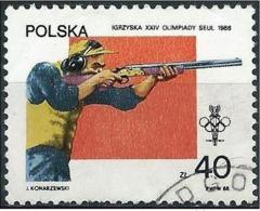 Poland 1988 - Mi 3153 - YT 2960 ( Seoul Olympics : Shotguns ) - 1944-.... République