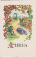 Illustrateur Ed Fox N°441 - Amitiés Rose Capucine Voiture Scene Campagnarde - CPSM 9x14 Etat Luxe Neuve - Fleurs