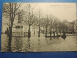 CPA MONTBELIARD INNONDATION DE 1910  PLACE DENFERT ROCHEREAU - Montbéliard