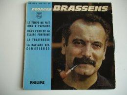 Georges Brassens Lot 3 Disque Vinyle 45 Tours T 2 Oncles Le Cocu - 45 G - Maxi-Single