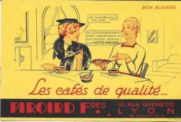 """BUVARD BLOTTING PAPER CAFÉ PIROIRD FRÈRES 10 RUE GRENETTE LYON 69 RHONE """"OH! MAIS DÉLICIEUX TON CAFÉ..."""" FEMME RENARD FO - Café & Thé"""