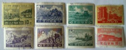 1961 KOREJA NORTH 8 Used Stamps - Korea, North