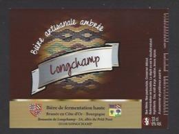 Etiquette De Bière  Ambrée -  Longchamp  -    Brasserie De Longchamp  (21) - Beer