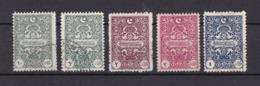 Türkei - Republik - Portomarken - 1922 - Michel Nr. 47/51 - 70 Euro - 1921-... Republic