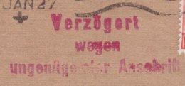 Great Britain EYRE & SONS Ryland Works CHESTERFIELD 1927 Cover Brief HAMBURG 'VERZÖGERT WEGEN UNGENÜGENDER ANSCHRIFFT' - 1902-1951 (Könige)