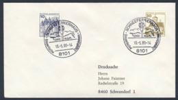 Deutschland Germany 1980 Brief Cover - Bayerische Zugspitzenbahnen - 2966 M.ü.M , Schneefernerhaus - Treinen
