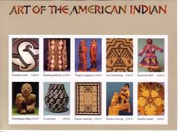 USA MI-NR. 3853-3862 POSTFRISCH(MINT) KLEINBOGEN KUNST DER INDIANERSTÄMME - Hojas Bloque