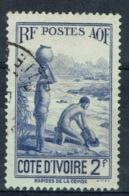 Ivory Coast, 2f., Along The Komoé River, 1936, VFU - Ivory Coast (1892-1944)