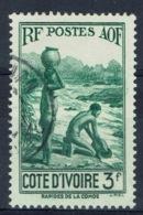 Ivory Coast, 3f., Along The Komoé River, 1936, VFU - Ivory Coast (1892-1944)