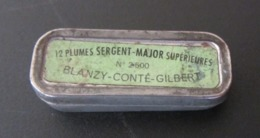 Boîte En Fer Vide Plumes Sergent-Major Supérieures N° 2500 Blanzy-Conté-Gilbert - Vulpen